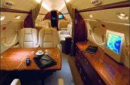 Large Charter Private Jet Interior