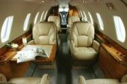 Midsize Private Charter Jet Interior